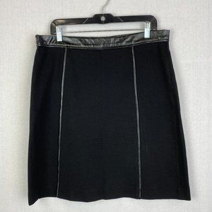 DKNY Black Solid Skirt